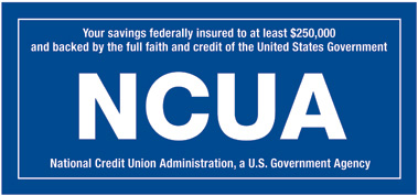 Federally insured to at least $250,000 by NCUA